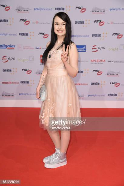 German singer JamieLee Kriewitz attends the LEA PRG Live Entertainment Award 2017 at Festhalle Frankfurt on April 3 2017 in Frankfurt am Main Germany