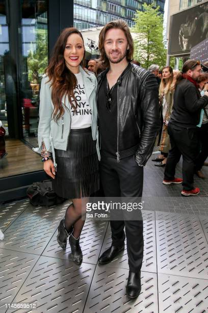 German singer Jasmin Wagner nd singer Gil Ofarim attend the Mazda Spring Cocktail at Sony Centre on May 23 2019 in Berlin Germany
