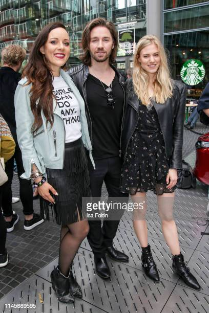 German singer Jasmin Wagner, singer Gil Ofarim and model Larissa Marolt attend the Mazda Spring Cocktail at Sony Centre on May 23, 2019 in Berlin,...