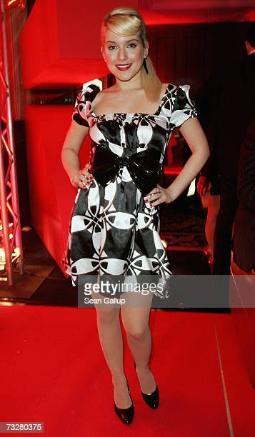 German singer Jeanette Biedermann attends the Movie Meets Media Party during the 57th Berlin International Film Festival on February 9 2007 in Berlin...