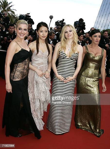 German singer Jeanette Biedermann Ms Boa Canadian singer and actress Avril Lavigne and French singer and actress Jenifer attend the 'Over The Hedge'...