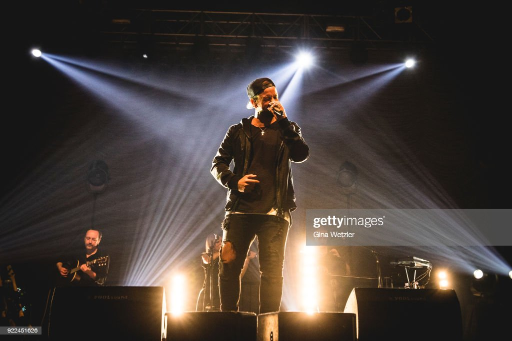 German Singer Joel Brandenstein performs live on stage during a concert at the Huxleys Neue Welt on February 21, 2018 in Berlin, Germany.