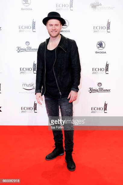 German singer Johannes Oerding during the Echo award red carpet on April 6 2017 in Berlin Germany