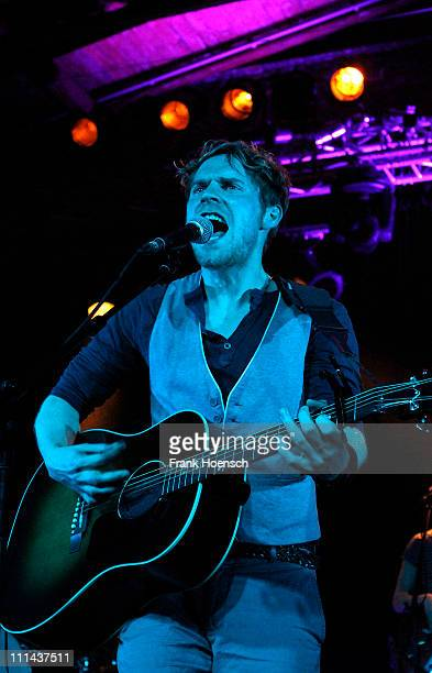 German singer Johannes Oerding performs live during a concert at the Postbahnhof on April 2 2011 in Berlin Germany