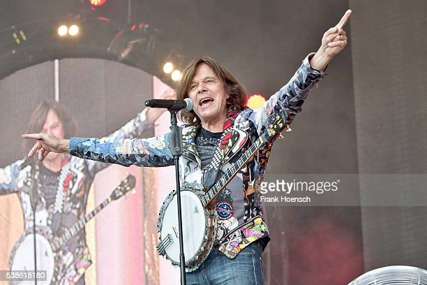 German singer Juergen Drews performs live during the Schlagernacht des Jahres at the Waldbuehne on June 4 2016 in Berlin Germany