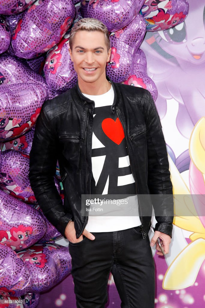 German singer Julian David attends the 'My little Pony' Premiere at Zoo Palast on October 3, 2017 in Berlin, Germany.