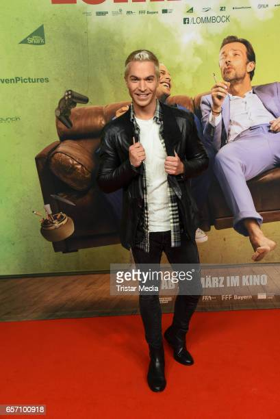 German singer Julian David during the premiere of the film 'Lommbock' at CineStar on March 23 2017 in Berlin Germany