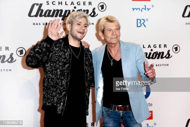 German singer Julian Reim and his fahter German singer Matthias Reim during the television show Schlagerchampions Das grosse Fest der Besten at...