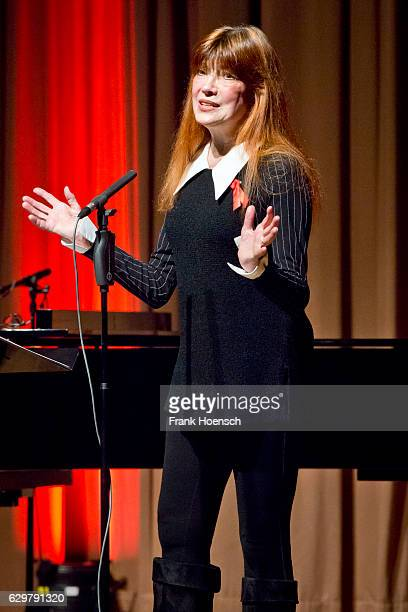 German singer Katja Ebstein performs live during a concert at the ErnstReuterSaal on December 4 2016 in Berlin Germany