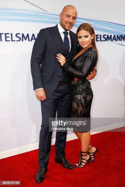 German singer Kim Gloss and her boyfriend Alexander Beliaikin attend the 'Bertelsmann Summer Party' at Bertelsmann Repraesentanz on June 22 2017 in...