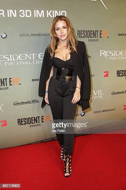 German singer Kim Gloss attends the Social Movie Night At 'Resident Evil The Final Chapter' premiere at CineStar on January 19 2017 in Berlin Germany