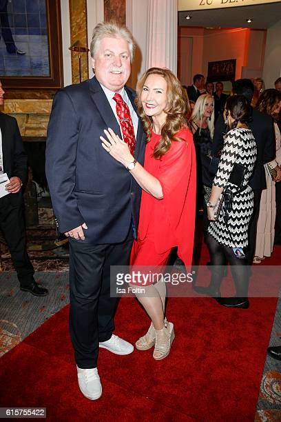German singer Klaus Baumgart and his wife Ilona Baumgart attend the 'Holiday on Ice' gala at Hotel Atlantic on October 19 2016 in Hamburg Germany