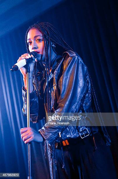 German singer Larissa Sirah Herden aka Lary performs live during a concert at the Berghain Kantine on October 27 2014 in Berlin Germany