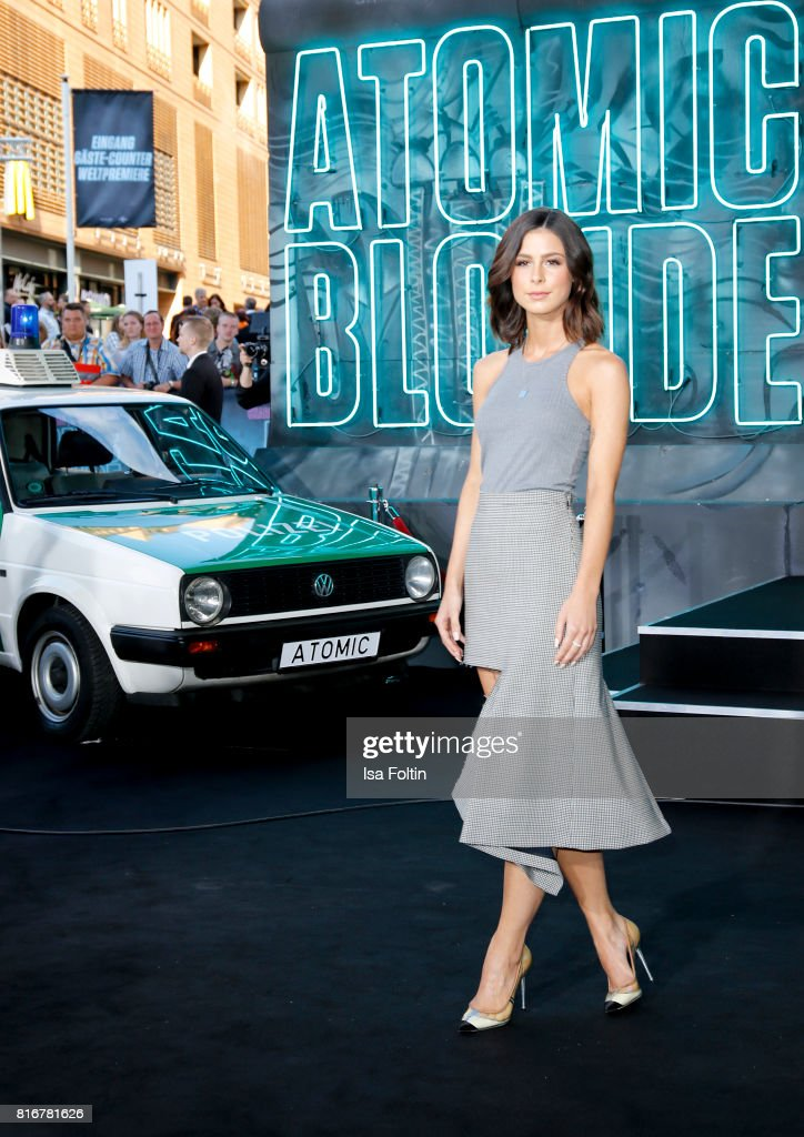 German singer Lena Meyer-Landrut attends the 'Atomic Blonde' World Premiere at Stage Theater on July 17, 2017 in Berlin, Germany.