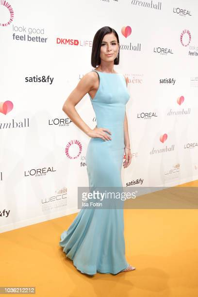 German singer Lena MeyerLandrut attends the Dreamball 2018 at WECC Westhafen Event Convention Center on September 19 2018 in Berlin Germany