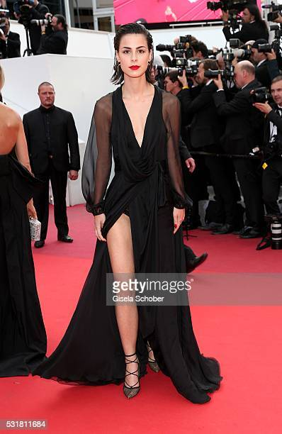 German singer Lena MeyerLandrut attends the Loving premiere during the 69th annual Cannes Film Festival at the Palais des Festivals on May 16 2016 in...
