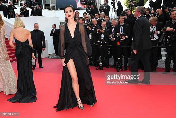 German singer Lena MeyerLandrut attends the 'Loving' premiere during the 69th annual Cannes Film Festival at the Palais des Festivals on May 16 2016...