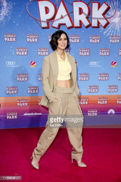 German singer Lena MeyerLandrut attends the Willkommen im Wunder Park premiere at Kino in der Kulturbrauerei on March 31 2019 in Berlin Germany