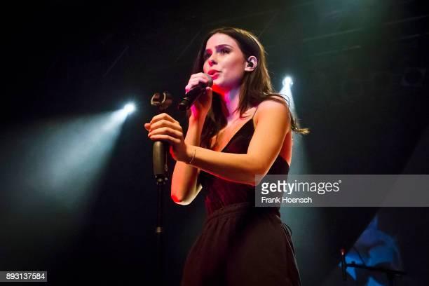 German singer Lena MeyerLandrut performs live on stage during a concert at the Huxleys on December 14 2017 in Berlin Germany