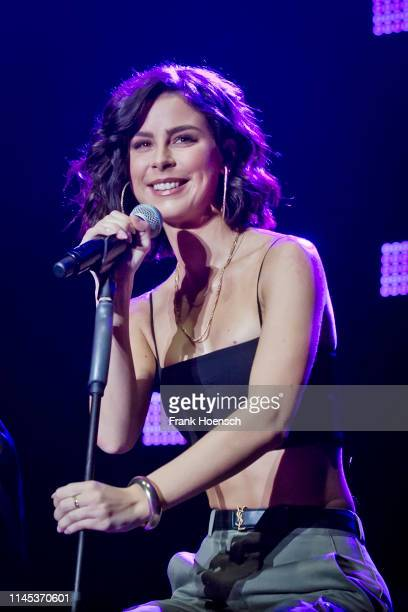 German singer Lena MeyerLandrut performs live on stage during the Global Citizen Live at the Tempodrom on May 21 2019 in Berlin Germany
