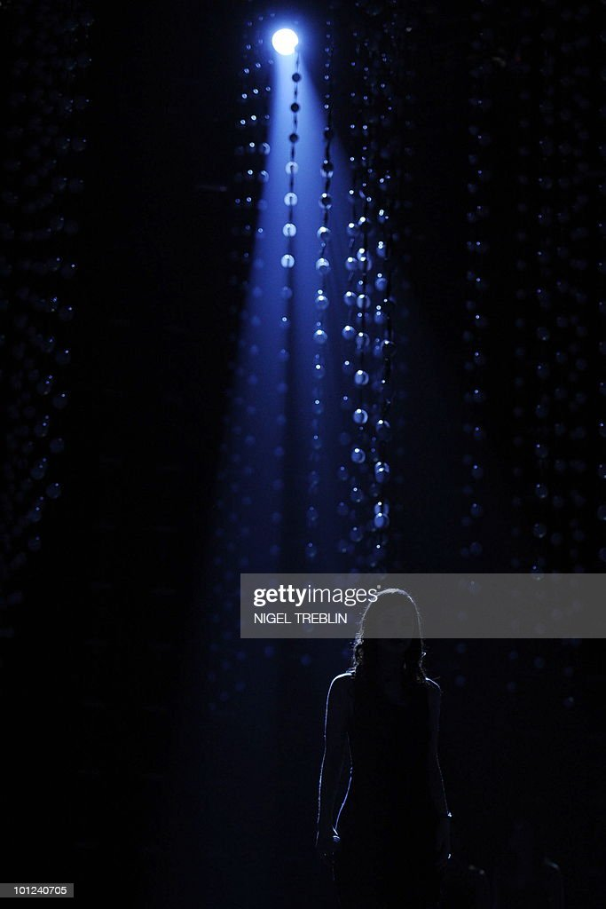 German singer Lena Meyer-Landrut performs on stage during a dress rehearsal at the Telenor Arena in Olso, Norway on May 28, 2010. Lena Meyer-Landrut is representing Germany in the 55th Eurovision Song Contest final will take place on May 29.