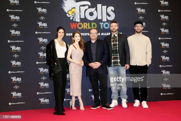 German singer Lena MeyerLandrut US actress and singer Anna Kendrick US director Walt Dohrn US musician Justin Timberlake and German singer Mark...