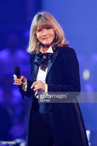 German singer Lena Valaitis during the tv show 'Heimlich Die grosse SchlagerUeberraschung' on March 17 2018 in Munich Germany