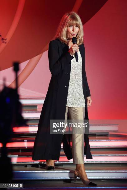 German singer Lena Valaitis performs during the tv show Stefanie Hertel Die grosse Show zum Muttertag on May 8 2019 in Altenberg Germany