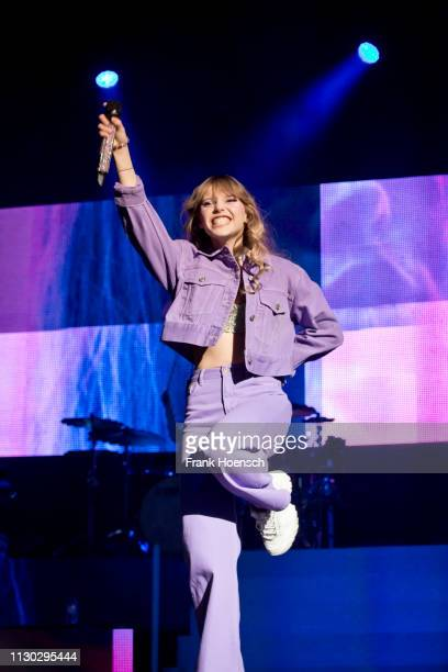 German singer Lina Larissa Strahl aka Lina performs live on stage during the concert at the Verti Music Hall on March 13, 2019 in Berlin, Germany.