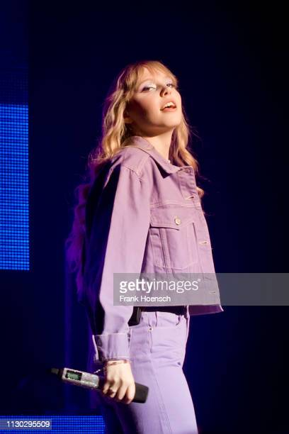 German singer Lina Larissa Strahl aka Lina performs live on stage during the concert at the Verti Music Hall on March 13 2019 in Berlin Germany