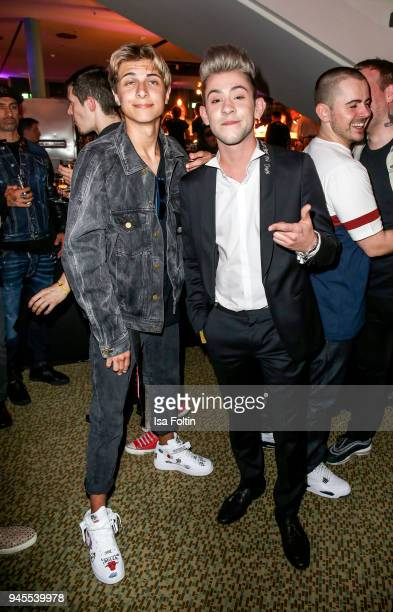 German singer Lukas Rieger and German singer Daniele Negroni during the Echo Award after show party at Palais am Funkturm on April 12 2018 in Berlin...