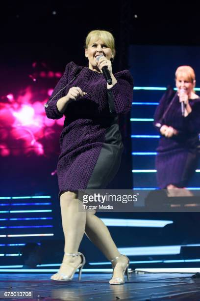 German singer Maite Kelly performs during 'Die Schlagernacht des Jahres' at Lanxess Arena on April 29 2017 in Cologne Germany