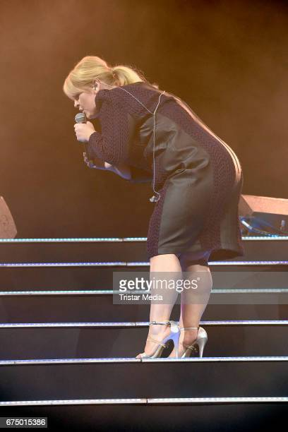 German singer Maite Kelly performs during 'Die Schlagernacht des Jahres' at Lanxess Arena on April 29, 2017 in Cologne, Germany.