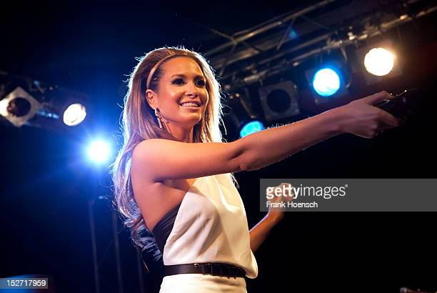 German singer Mandy Capristo performs live during a concert at the Frannz on September 24 2012 in Berlin Germany