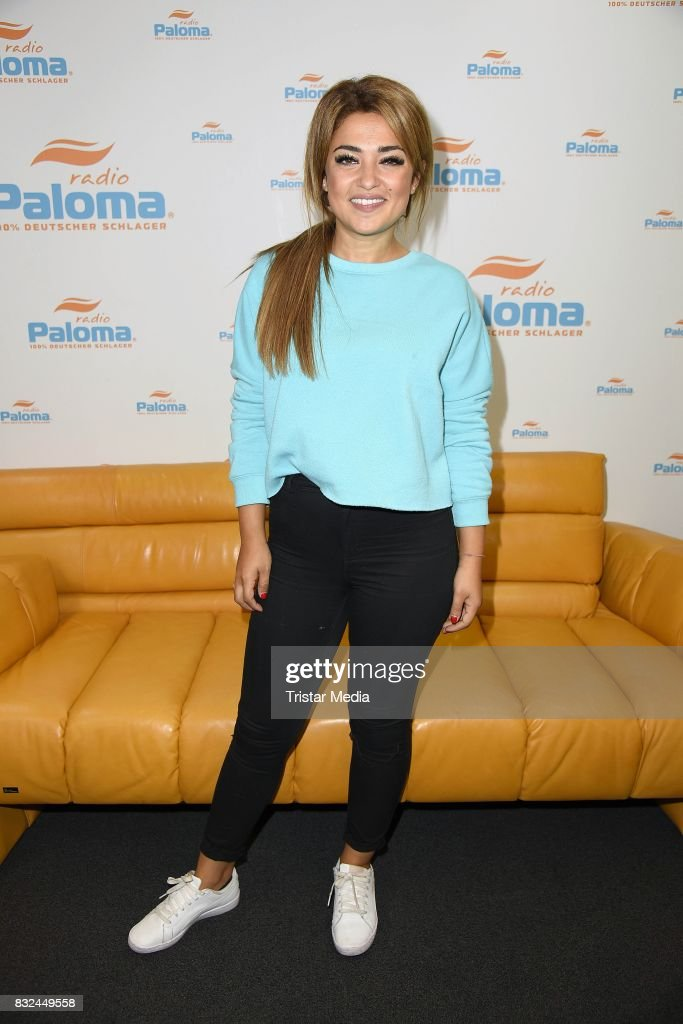 German singer Maria Voskania promotes her upcoming CD 'Magie' at Radio Paloma radio station on August 16, 2017 in Berlin, Germany.