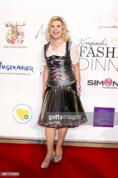 German singer Marianne Hartl attends the Kempinski Fashion Dinner on May 23 2017 in Munich Germany