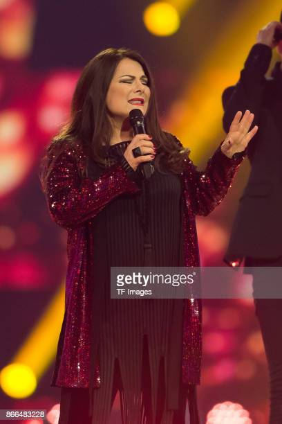 German singer Marianne Rosenberg performs the 'Schlagerboom Das Internationale Schlagerfest' at Westfalenhalle on October 21 2017 in Dortmund Germany