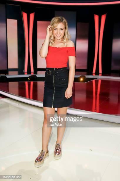 German singer Marie Wegener during the tv show 'Stefanie Hertel Meine Stars' on August 23 2018 in Zwickau Germany