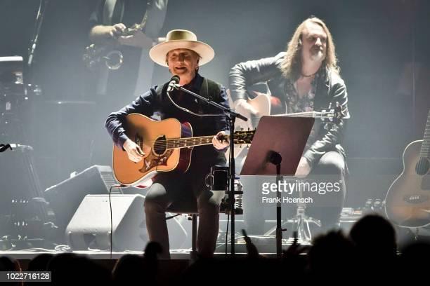 German singer Marius MuellerWesternhagen performs live during a concert at the MercedesBenz Arena on August 24 2018 in Berlin Germany