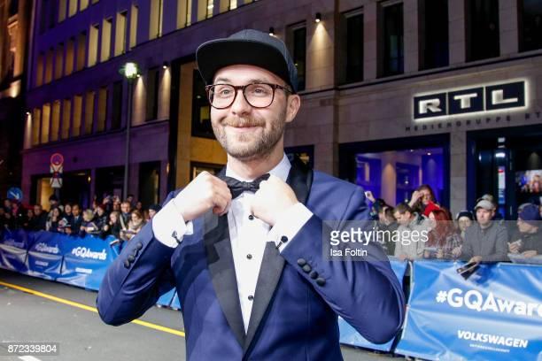 German singer Mark Forster arrives for the GQ Men of the year Award 2017 at Komische Oper on November 9 2017 in Berlin Germany