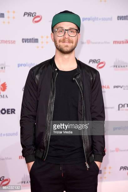 German singer Mark Forster attends the LEA PRG Live Entertainment Award 2017 at Festhalle Frankfurt on April 3 2017 in Frankfurt am Main Germany