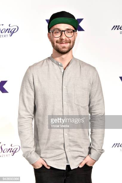 German singer Mark Forster during the press conference to the TV Show 'Sing meinen Song' on April 9 2018 in Berlin Germany