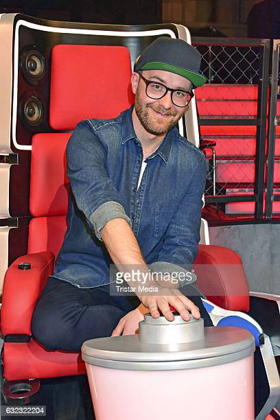German singer Mark Forster during the 'The Voice Kids' photo call on January 21 2017 in Berlin Germany