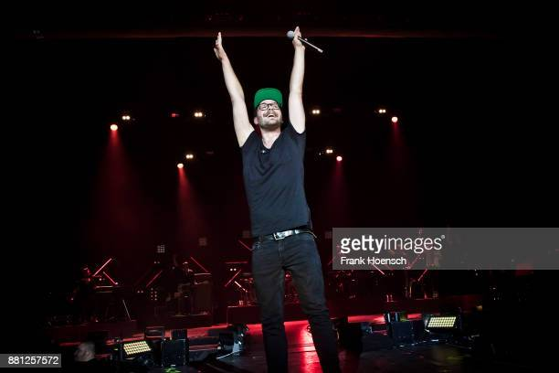 German singer Mark Forster performs live on stage during a concert at the MaxSchmelingHalle on November 28 2017 in Berlin Germany