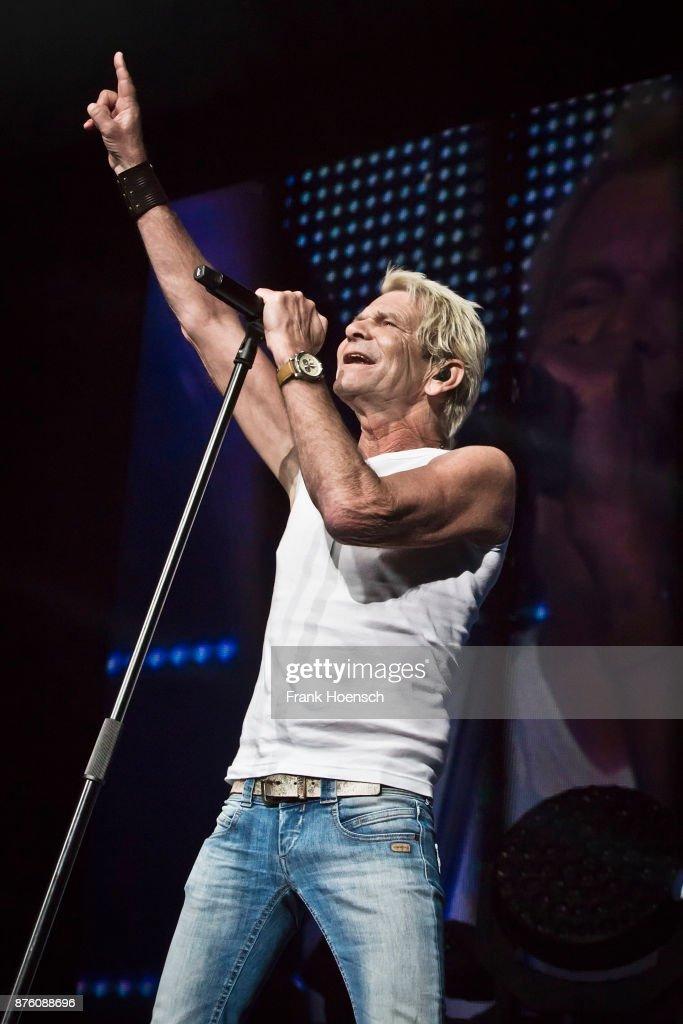 German singer Matthias Reim performs live during the show 'Die Schlagernacht des Jahres' at the Mercedes-Benz Arena on November 18, 2017 in Berlin, Germany.