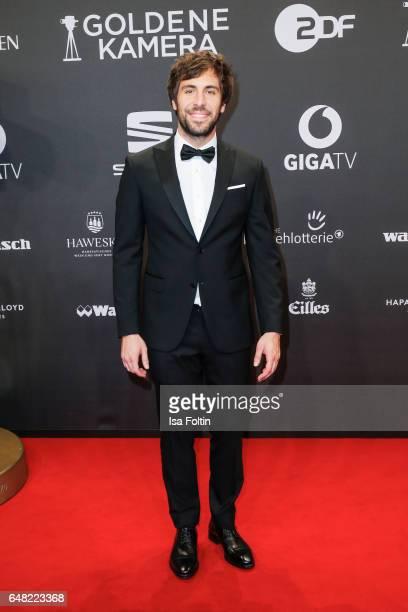 German singer Max Giesinger arrives for the Goldene Kamera on March 4 2017 in Hamburg Germany