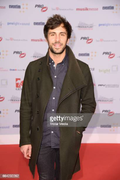 German singer Max Giesinger attends the LEA PRG Live Entertainment Award 2017 at Festhalle Frankfurt on April 3 2017 in Frankfurt am Main Germany