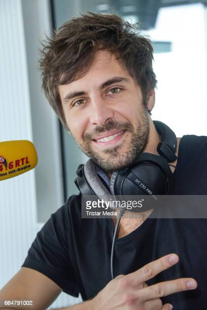 German singer Max Giesinger attends the Thomas Koschwitz show at RTL Radio Berlin on April 5 2017 in Berlin Germany