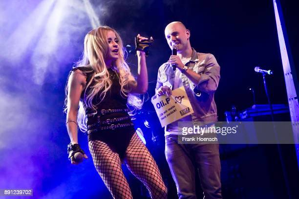 German singer Mia Julia and Oliver Petszokat aka Oli P perform live on stage during a concert at the Columbia Theater on December 12 2017 in Berlin...