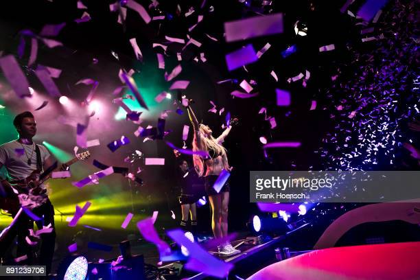 German singer Mia Julia performs live on stage during a concert at the Columbia Theater on December 12 2017 in Berlin Germany